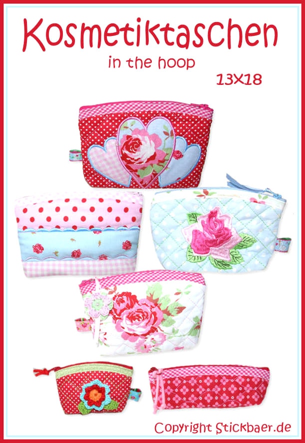 Der Stickbaer Beautycases Ith 5x7 Embroidery From Heart