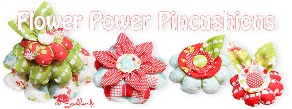 Flower Power Pincushions