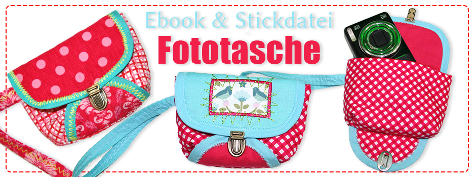Ebook & Embroidery Files - Camera Pouch