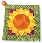 3D Flowers & Potholder 7 2/3""