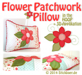 Flower Patchwork Pillow 16x26  6x10