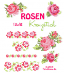 Rose Cross Stitch 5x7