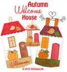 Autumn Welcome House Set 2- 13x18 + 18x30