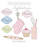Baking Recipes Cover Appliques