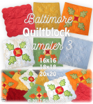 Baltimore Quiltblock Sampler 3 16x16