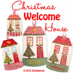 Christmas Welcome House 20x36 - 8x14""