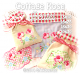 "Cottage Rose Bags 5x7""+8x12"""