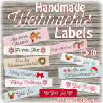 Handmade Christmas Labels