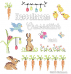 Hopping Bunny Cross Stitch