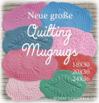 "New Big Quilting Mugrugs 7x12""+9x14"""