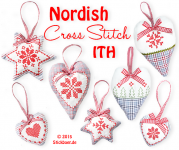 Nordish Cross Stitch ITH 10x10 4x4""
