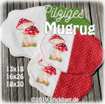 Toadstool Mugrug all 3 sizes
