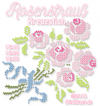 Bouquet of Roses Cross Stitch all 3 size