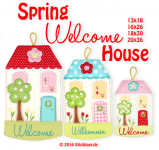 Spring Welcome House Set 2- 13x18 + 18x30