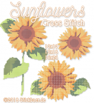 Sunflowers Cross Stitch