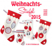 Christmas Stockings 2015 16x26 cm/ 6x10""