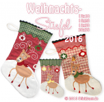 Christmas Stockings 2016 18x30 cm / 7x12""