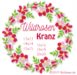 Wildrosenkranz 13x13