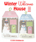 Winter Welcome House 18x30 - 7x12""