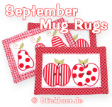 September Mug Rugs 20x30cm 8x12""