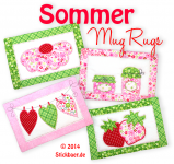 "Summer Mugrugs ITH 5x7"" + 6x10"""