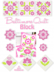 Baltimore Quilt Block 18x30 7x12""