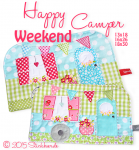 Happy Weekend Camper Mugrug 16x26 6x10""