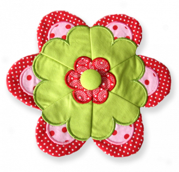 "Flower Pillow ITH 4""x4"""