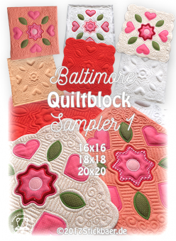 Baltimore Quiltblock Sampler 1 20x20