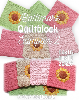 Baltimore Quiltblock Sampler 2 8x8""
