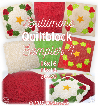 Baltimore Quiltblock Sampler 4 20x20