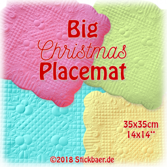 Big Christmas Placemat