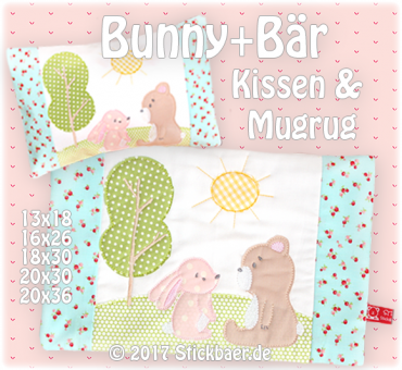 Bunny and Bear Mugrug