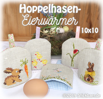 Hopping Bunny Egg Cosies