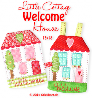 Little Cottage Welcome House 5x7""