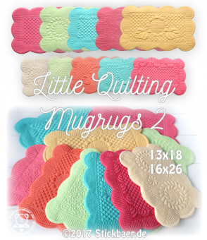 Little Quilting Mugrugs 2 ITH 13x18
