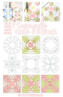 Pineapple Quilt Block 20x30 8x12""