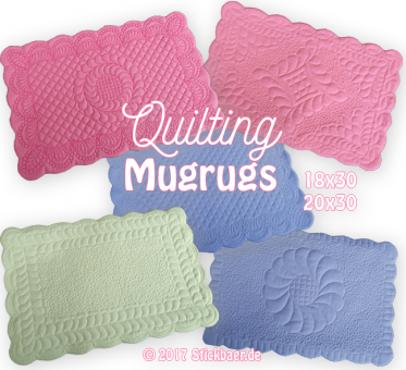 Quilting Mugrugs ITH 18x30 + 20x30