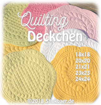Round Quilting Mugrugs all 5 sizes