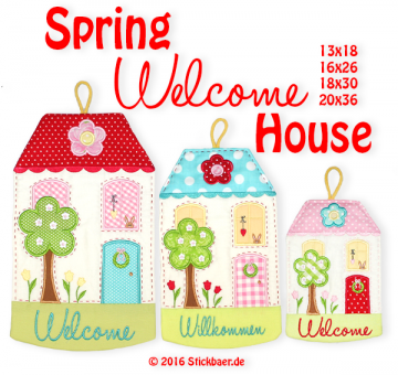Spring Welcome House Set 1- 13x18 + 16x26