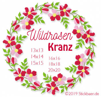 Wildrosenkranz 15x15