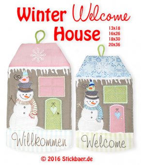 Winter Welcome House 16x26 - 6x10""
