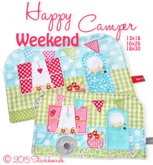 Happy Weekend Camper Mugrug 13x18+16x26+18x30