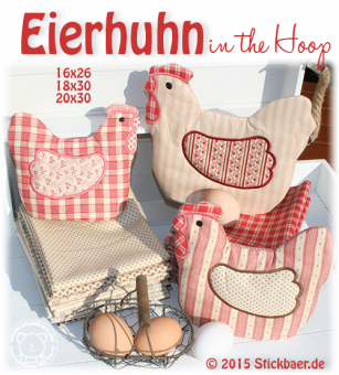 "Chicken Egg Cosy Set 1 16x26+18x30 (6x10""+7x12"")"