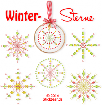 Winter Stars Set of 2 sizes 4x4 + 5x7