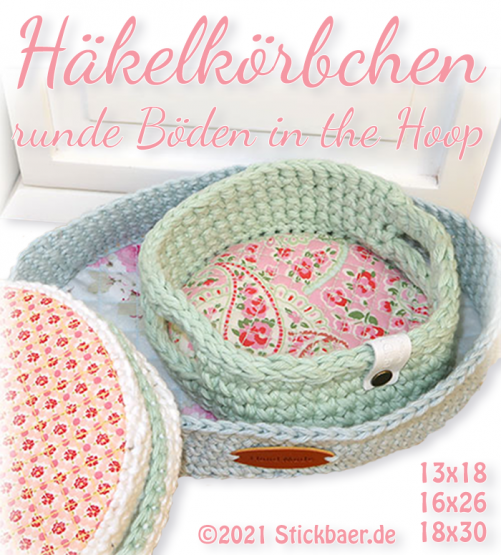Crochet Basket round Base