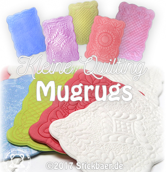 Kleine Quilting Mugrugs ITH
