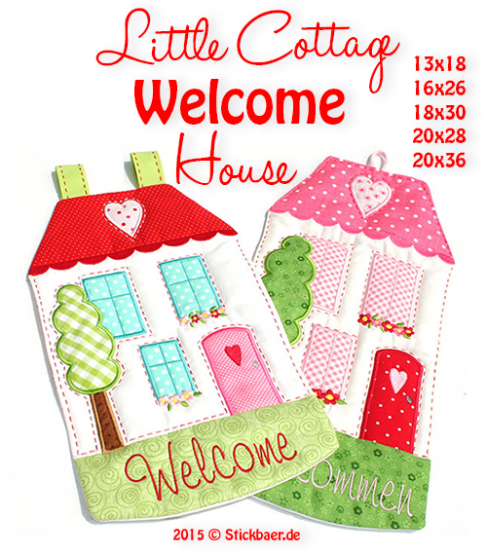 Little Cottage Welcome House Set 1- 16x26 + 18x30