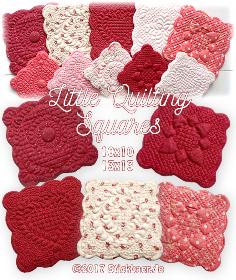 Little Quilting Squares ITH 10x10 + 13x13