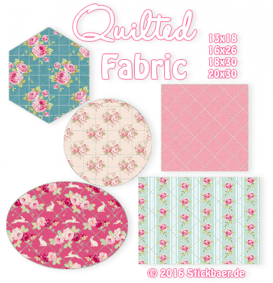 Quilted Fabric 13x18 + 16x26 + 20x30